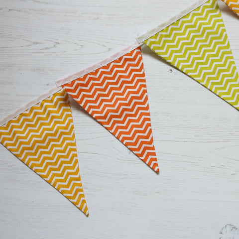 The Wavy Line Range Nine Pennant Cotton Bunting - New for 2017 (inc P&P)