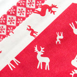 Red Scandi Christmas - Reindeer Cotton Bunting (inc P&P)