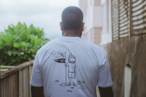 'Flick Yeah Astronaut' men's staple tee