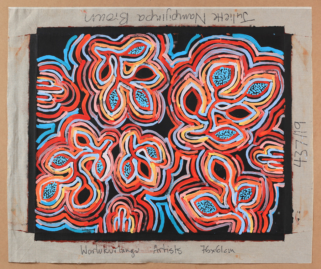 Image of un-stretched Aboriginal Painting