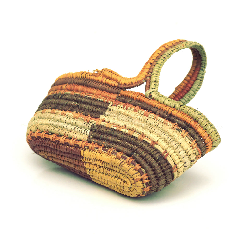 Aboriginal Art - Charmaine Ashley, Gapuwiyak - Woven Basket - Art Ark