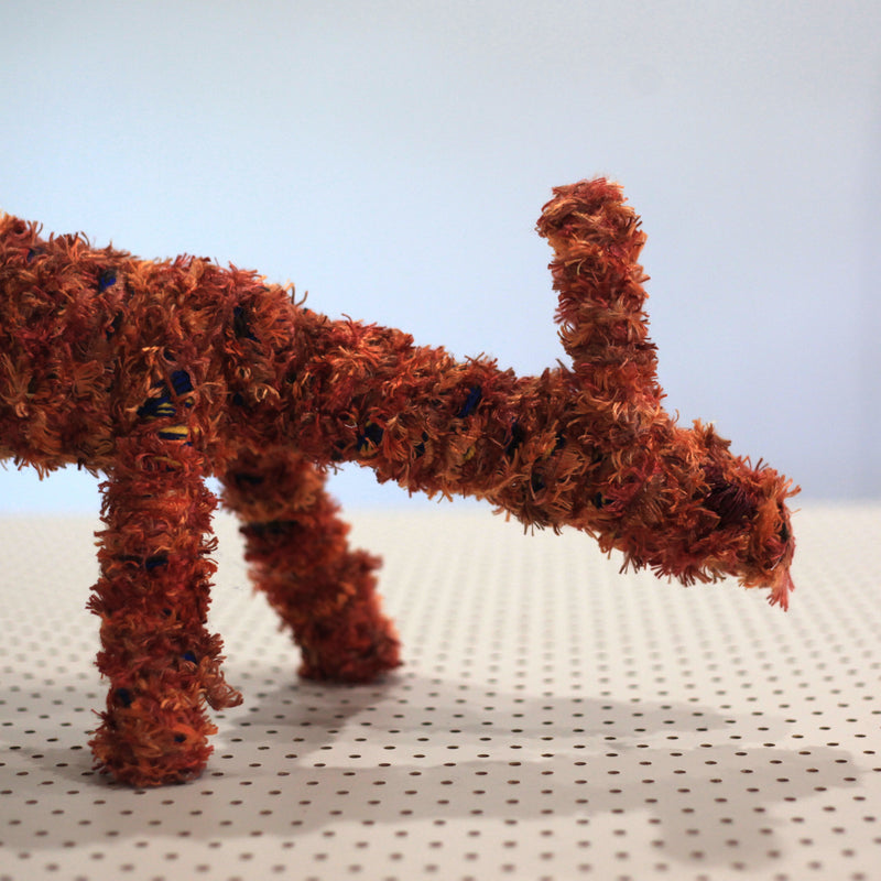 Aboriginal Art | Nyinku Kulitja - Tjanpi Papa (dog) Sculpture