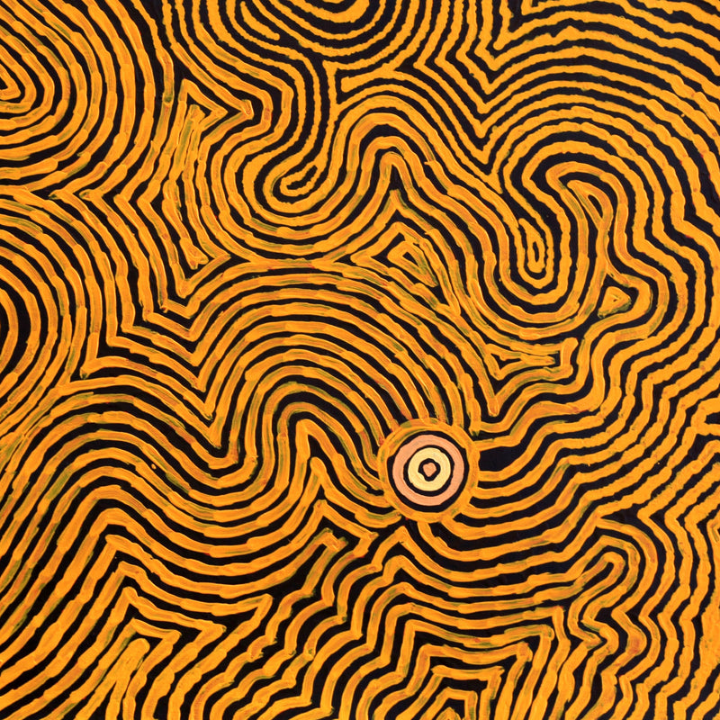 Leston Japaljarri Spencer, Warna Jukurrpa (Snake Dreaming), 91x91cm