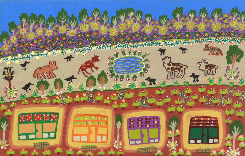 Margaret Boko, This is My Country, Glen Helen Station, 79x55cm | Aboriginal Art  | Art Ark - 1