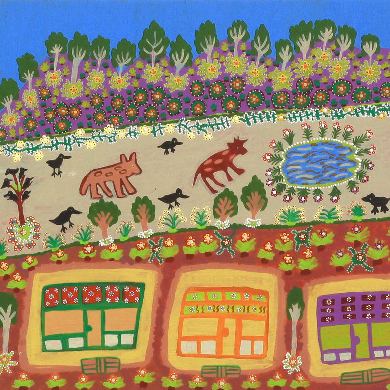 Aboriginal Art | Margaret Boko, This is My Country, Glen Helen Station, 79x55cm