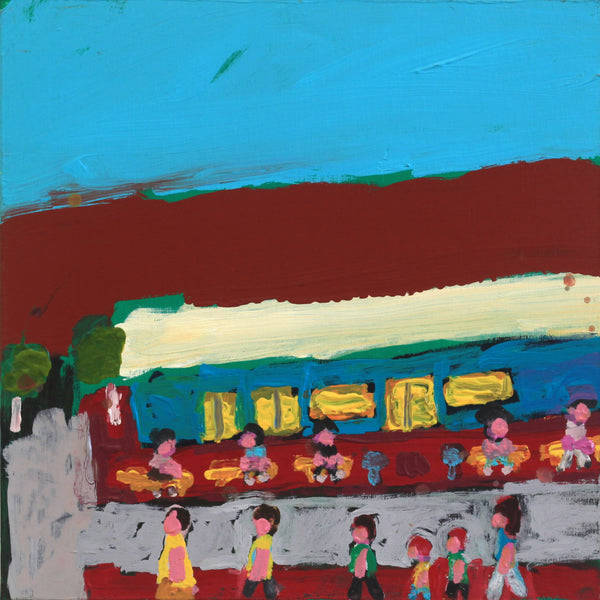 Sally M Mulda, Outside Piggly Wiggly - Gap Road, 40x40cm | Aboriginal Art  | Art Ark - 1