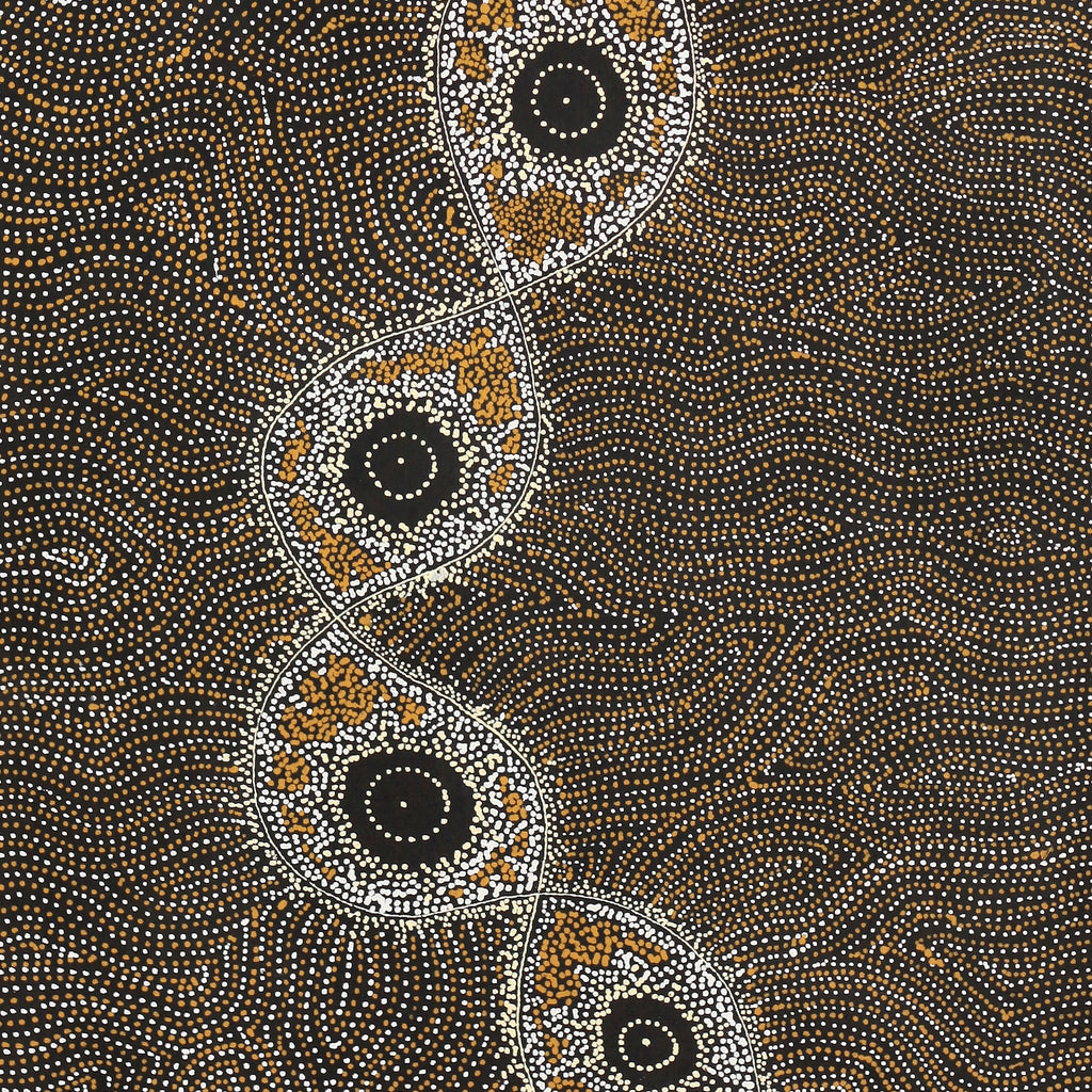 Shanna Napanangka Williams, Yanjirlpirri or Napaljarri-Warnu Jukurrpa (Star or Seven Sisters Dreaming), 152x61cm