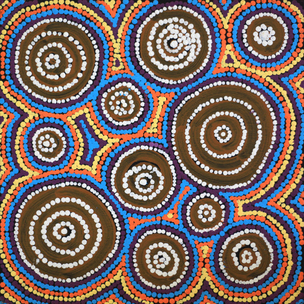 Aboriginal Art | Thompson Jangala Brown, Yumari Jukurrpa (Yumari Dreaming), 30x30cm