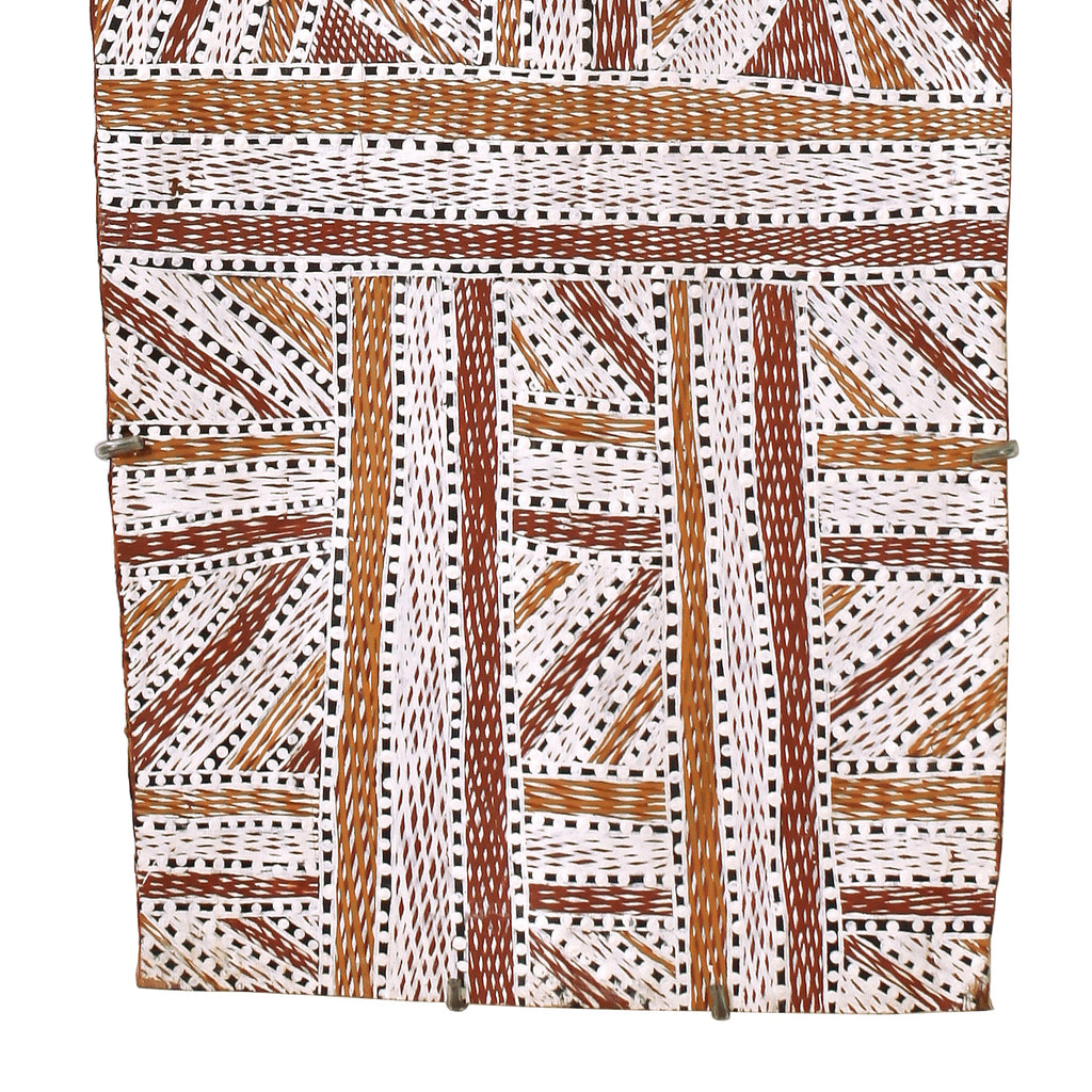 Wukun Wanambi, Trial Bay, 112x38cm Bark
