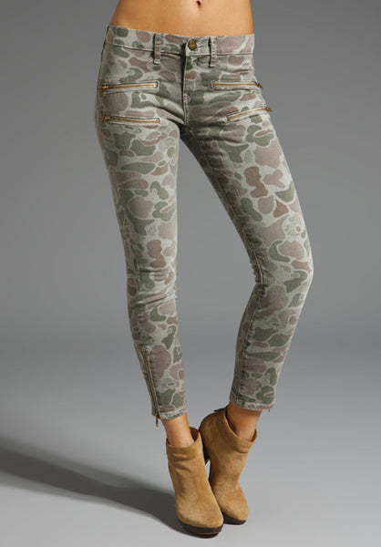 Current Elliott The Stiletto Multi Zip In Camo