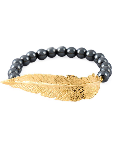 Lei Van Kash Beaded Feather Bracelet