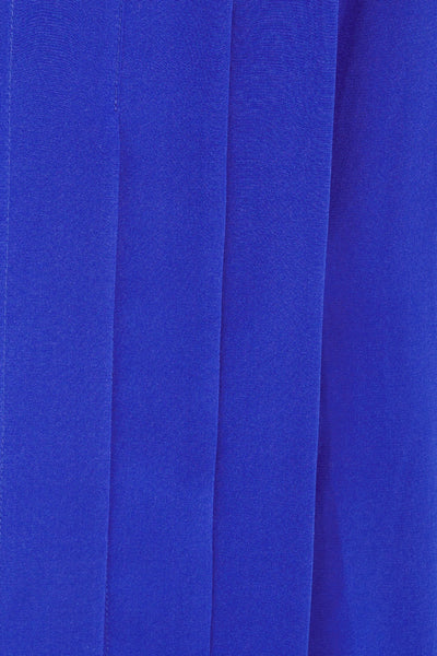 Richard Nicoll Blue Pleated Silk Mini Dress