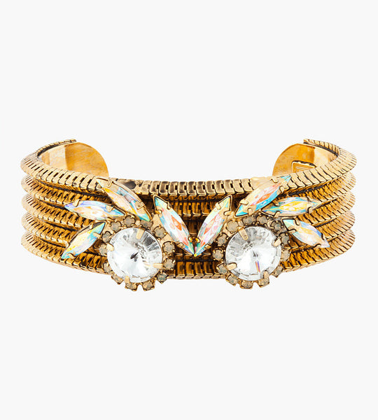 Dannijo Antique Gold and Swarovski Handmade Natasha Cuff