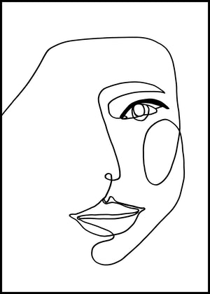 Face Line 1 | Alu Art