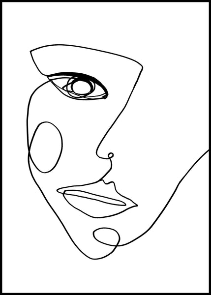 Face Line 2 | Alu Art