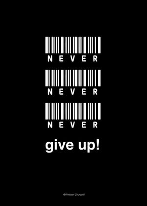 Never give up | Alu Art