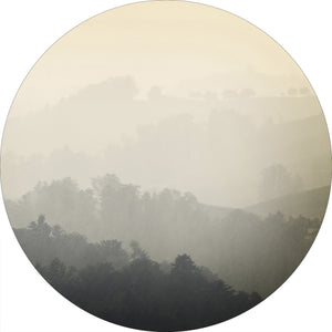 Foggy yellow | CIRCLE ART | RUNDE BILLEDER
