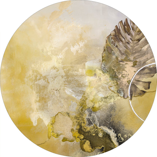 Golden Leaf | CIRCLE ART | RUNDE BILLEDER