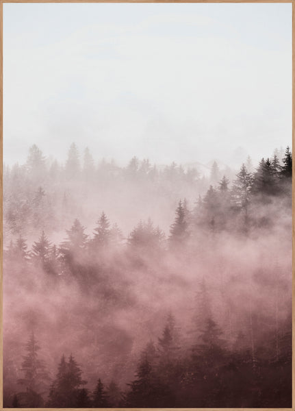 Foggy red | Poster Board