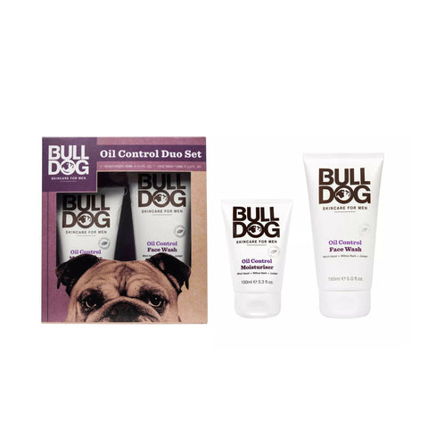 Bulldog Oil Control Duo Set with Moisturiser 100ml and Face Wash 150ml