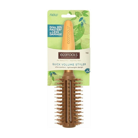 Eco Tools Quick Volume Styler Hair Brush - Ultra Comfort, Lightweight Design