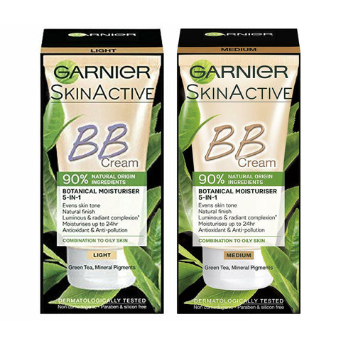 Garnier BB Cream 90% Natural Origin Light Tinted Moisturiser 50ml (VARIOUS SHADES)