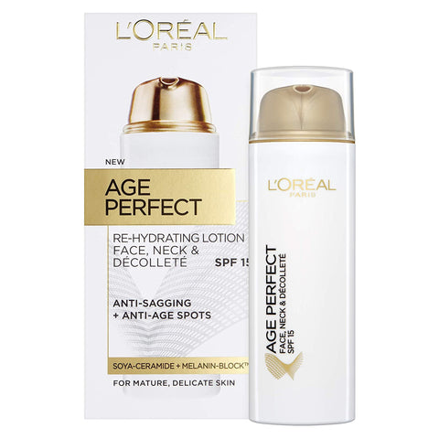 L'Oreal Paris Age Perfect Re-Hydrating LOTION Face, Neck SPF 15 - 50ml