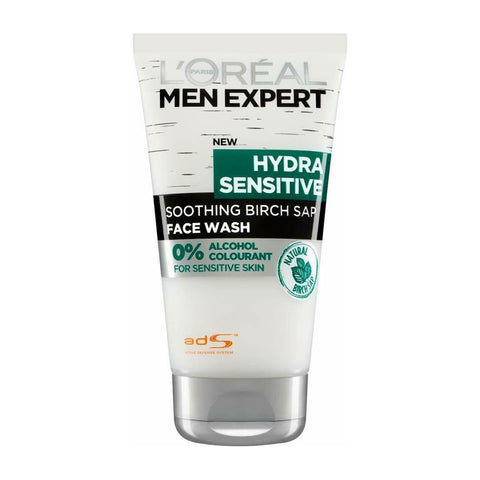 L'Oreal Men Expert Hydra Sensitive Face Cleanser with Birch Sap 150ml