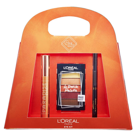 L'Oreal Paradise Mascara Black Eyeliner and Eyeshadow Palette Eye Kit Gift Set