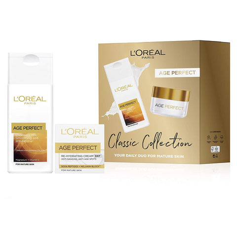 L'Oreal Paris Age Perfect Cleansing Milk and Day Cream Gift Set