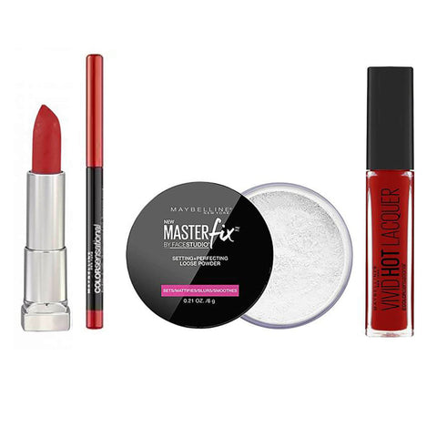 Maybelline Killer Red Lip Kit 5-Piece Make Up Gift Set