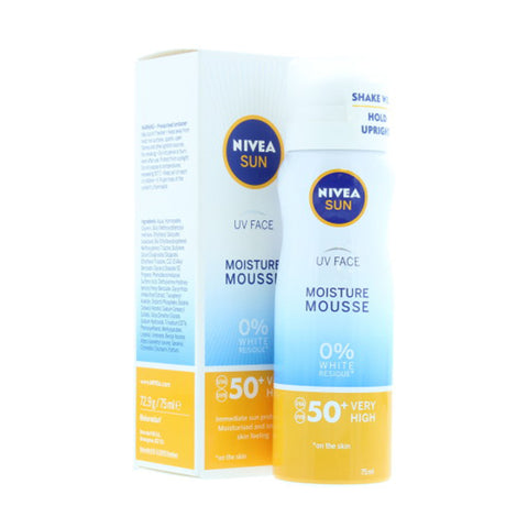 Nivea Face Moisture Mousse SPF 50+ UVA/UVB Very High Sun Protection - 75ml