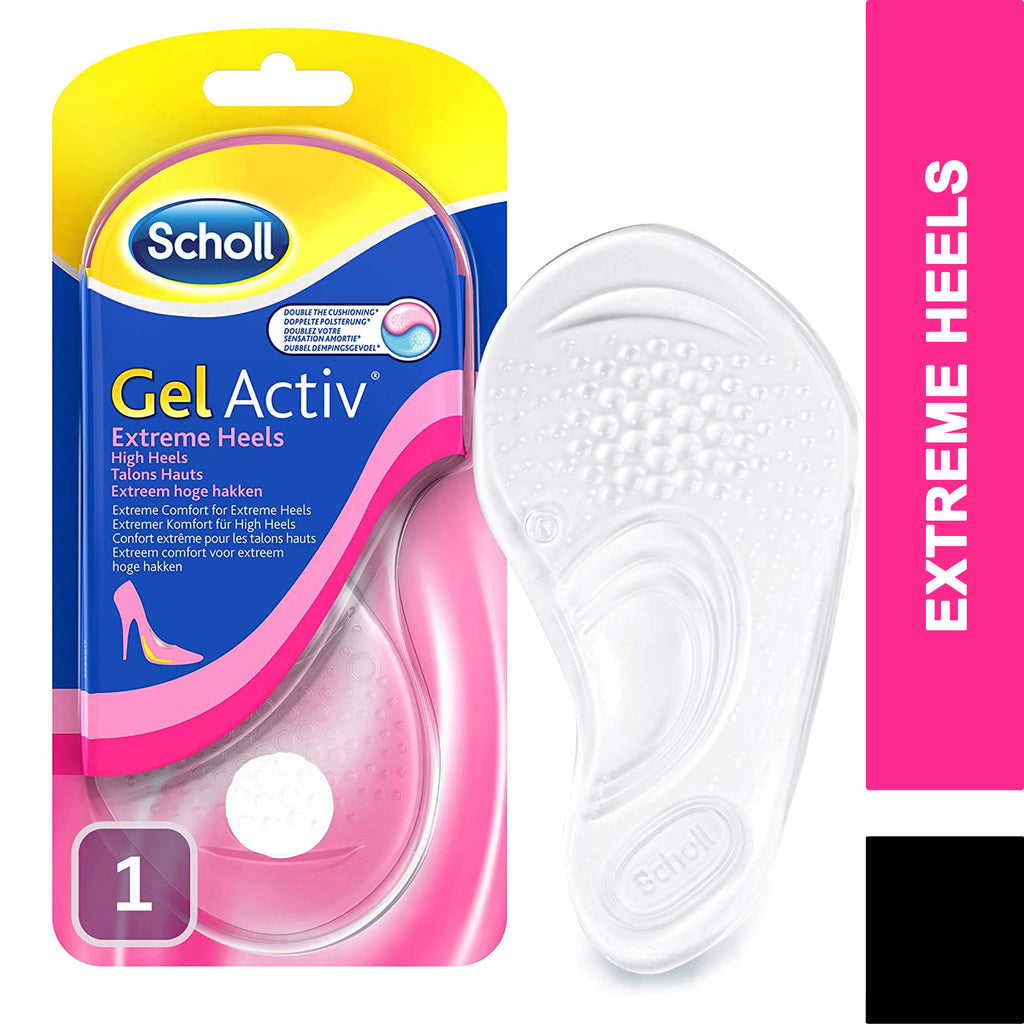 Scholl Gel Activ Comfy Insoles Extreme Heels 1 Pair - Fits UK size 3 - 7.5