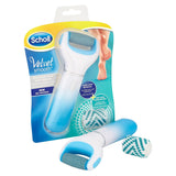 Scholl Velvet Smooth Electronic Foot File Care System - Blue