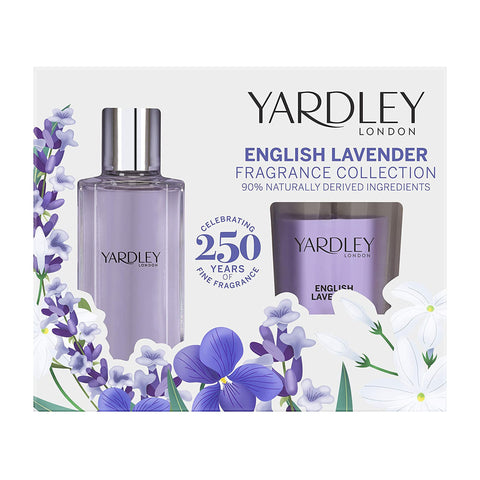 Yardley London English Lavender Eau De Toilette Fragrance & Candle Gift Set