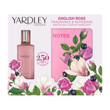 Yardley London English Rose Eau de Toilette Fragrance & Notebook Gift Set