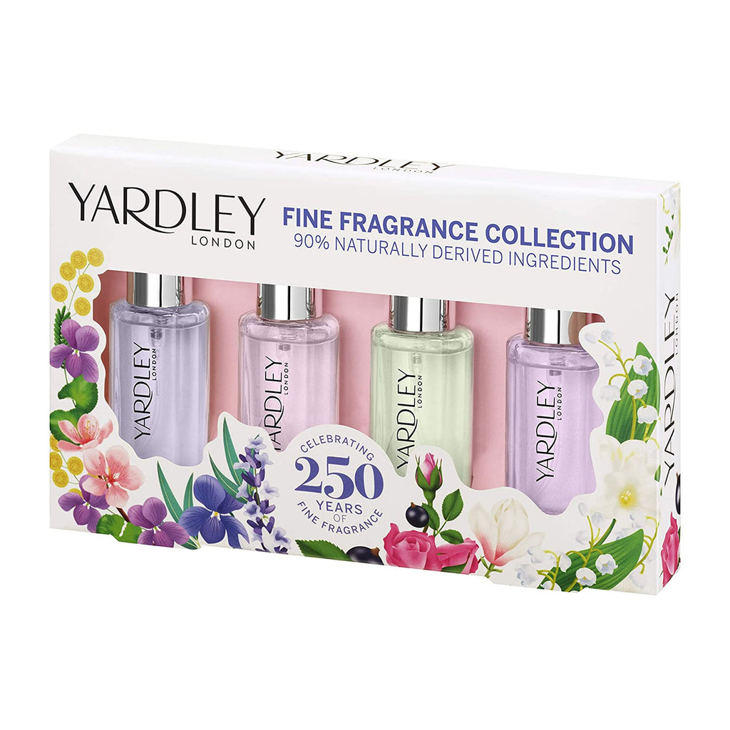 Yardley London Tradition Floral Fine Fragrance Collection 4 x 10ml Gift Set