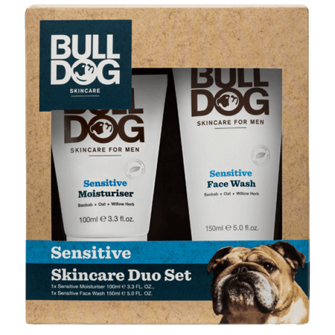 Bulldog Sensitive Duo Set with Moisturiser 100ml and Face Wash 150ml