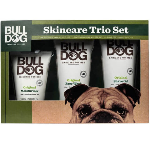 Bulldog Skincare Original Trio Set - Moisturiser, Face Wash, Shave Gel