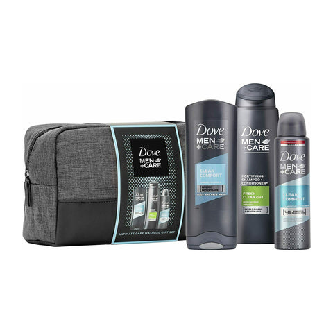 Dove Men + Care Ultimate Care Wash Bag Gift Set - Body Face Wash, Shampoo, Deo