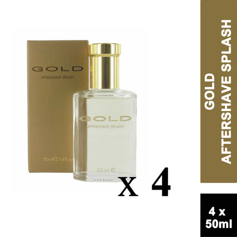 Gold Aftershave Splash 50ml (4 PACK)