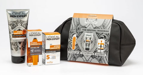 L'Oreal Men Expert The Revival Washbag 3-Piece Mens Toiletry Gift Set