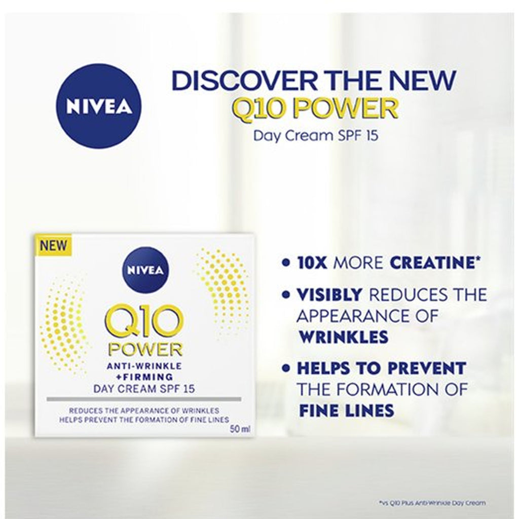 Nivea Q10 Power Anti-Wrinkle + Firming Day Cream SPF 15 50ml