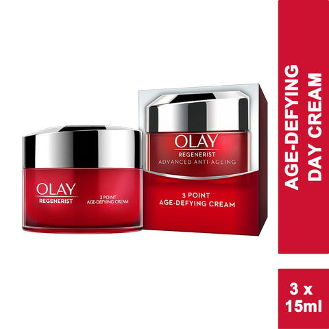 Olay Regenerist 3 Point Firming Anti-Ageing DAY Cream 15ml (3 PACK)