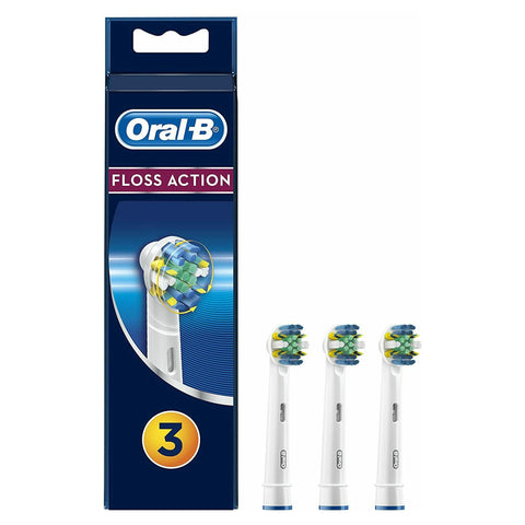 Oral B Electric Tooth Brush Heads Floss Action (3 PACK)