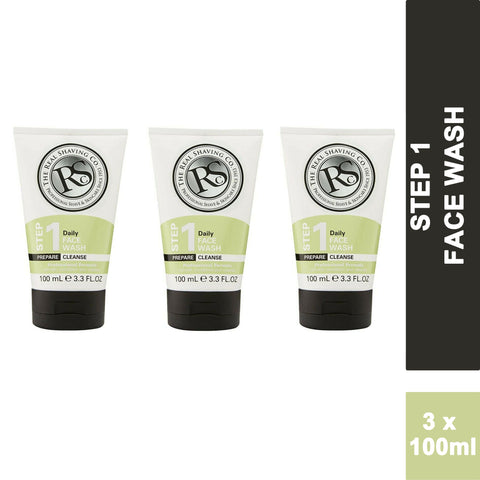 The Real Shaving Company Daily Face Wash 100ml (3 PACK)