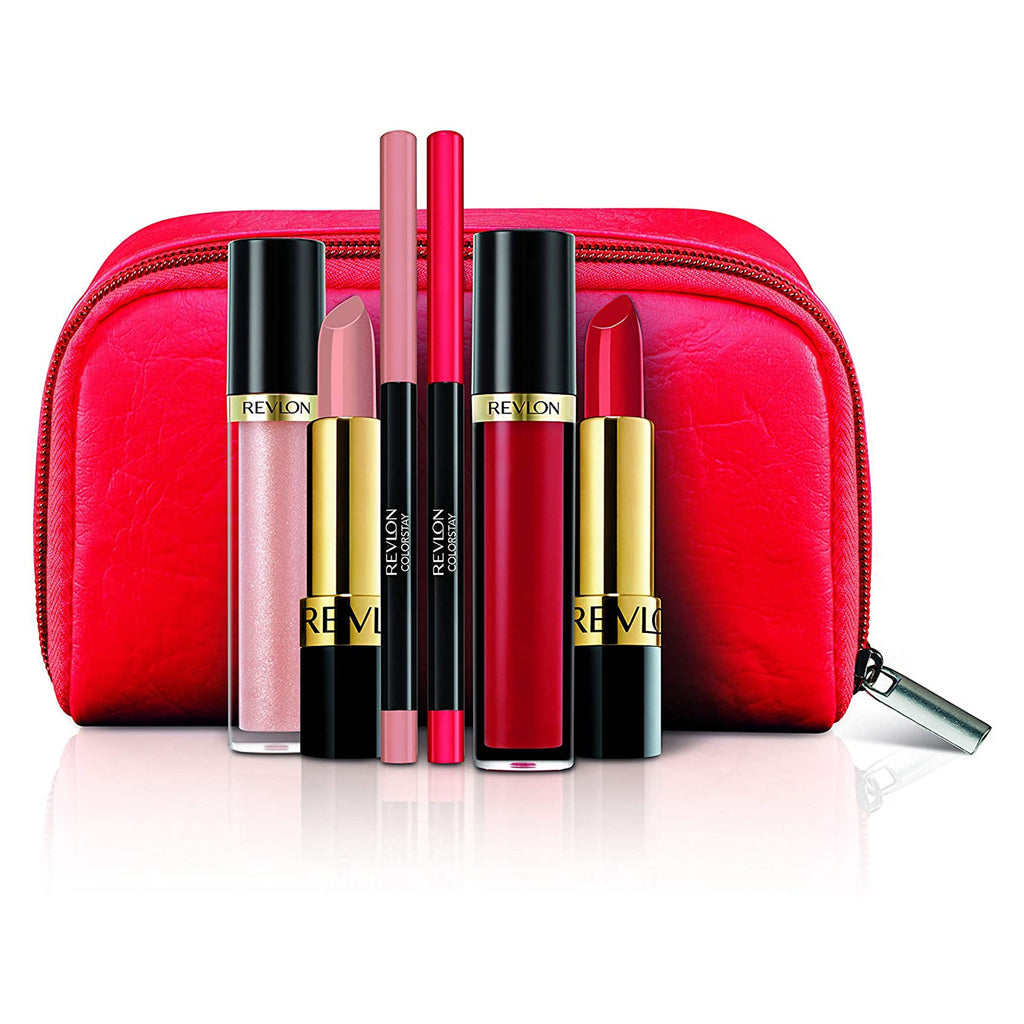 Revlon Love Series Travel Gift Set with Super Lustrous Lipstick Lip Gloss & Lip Liner