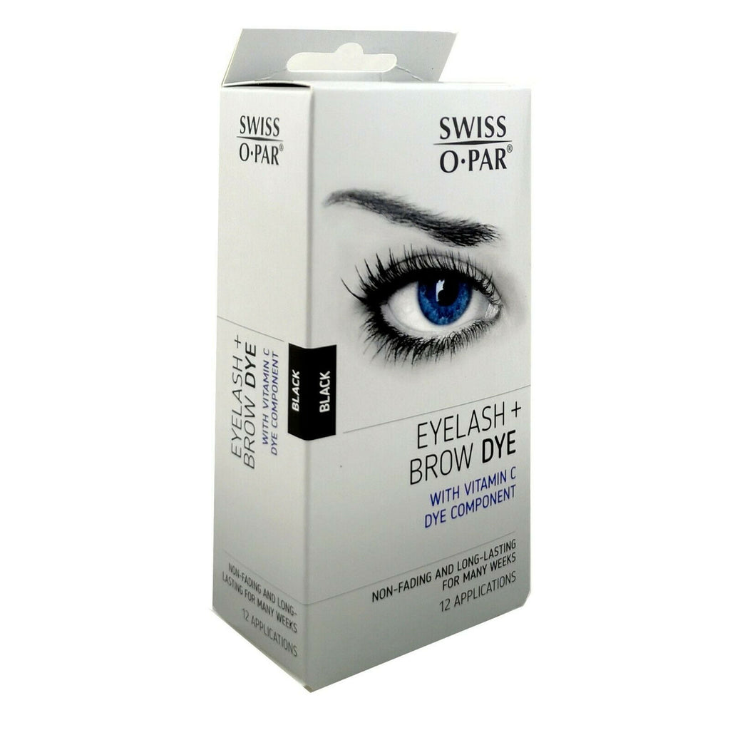 Swiss O Par Eyelash and Brow Dye Tint Color Kit Black Or Brown