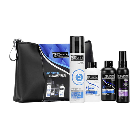 TRESemme Perfect GETAWAY Hair Gift Set with Shampoo, Conditioner, Hairspray & Heat Spray