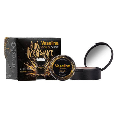 Vaseline Little Treasures Gift Set - Gold Dust Lip Therapy Balm & Compact Mirror